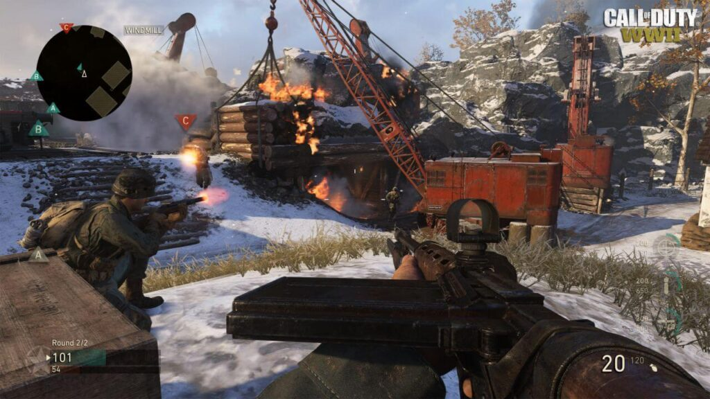 call of duty world war 2 hack gameplay on PS4